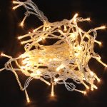 100 LED Decorative Light, Non Flashing Type, Warm White Light, Transparent Cable (1)