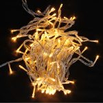 100 Decorative Light, Flashing Type, Warm White Light, Transprent Cable (2)